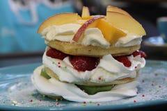 Fruit pancakes Royalty Free Stock Photo