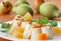 Fruit Panna Cotta Stock Photo