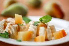 Fruit Panna Cotta Royalty Free Stock Photography