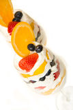 Fruit Parfait in Wine Glass Royalty Free Stock Photography