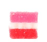 Fruit-paste candy close up. Fruit-paste candies close up. Isolated. On a white background Royalty Free Stock Photos