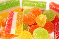 Fruit-paste sweets Royalty Free Stock Photos