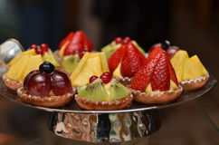 Fruit pastries Stock Photography