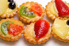 Fruit pastry. Isolated on white Stock Image