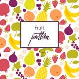 Fruit pattern. Stock Photos