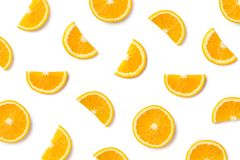 Fruit pattern of orange slices royalty free stock photo