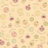 Fruit pattern Stock Photography
