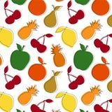 Fruit pattern. Fruit seamless pattern on white background Royalty Free Stock Photos
