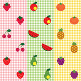 Fruit pattern set Royalty Free Stock Images