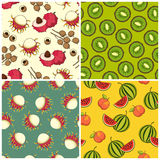 Fruit pattern set Stock Image