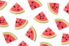 Fruit pattern of watermelon slices royalty free stock images
