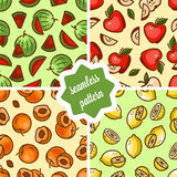 Fruit patterns set Royalty Free Stock Photo