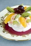 Fruit Pavlova stock photo
