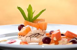 Fruit pavlova dessert Royalty Free Stock Photo