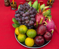 Fruit pay respect to god Royalty Free Stock Image