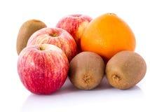 Fruit pear, apple, kiwi, orange isolated. Royalty Free Stock Image