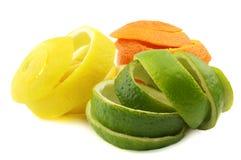 Fruit peel. On a white background Stock Photo