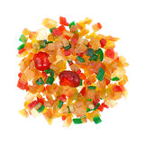 Fruit and peel mix on a white background Royalty Free Stock Photos