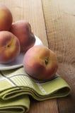 Fruit: Perziken Stock Afbeelding