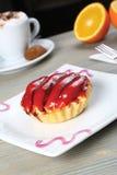 Fruit petite cake Stock Image