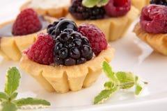 Fruit petite cakes Royalty Free Stock Photos