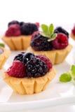 Fruit petite cakes Stock Photography