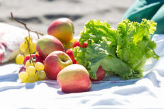 Fruit at the picnic Stock Photography