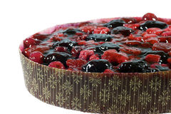 Fruit Pie. Closeup of delicious fruit pie with berries Royalty Free Stock Image