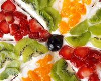 Fruit pie. Abstract background from an appetizing fruit pie royalty free stock photos