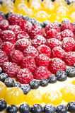 Fruit pie background. Shallow depth of field royalty free stock photography
