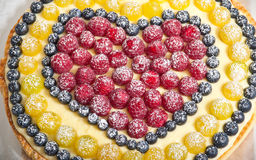 Fruit pie background. Shallow depth of field stock images