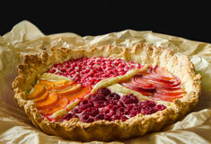 Fruit pie in baking paper Royalty Free Stock Photo