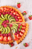 Fruit pie. Close up on fruit pie royalty free stock photo