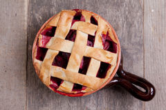 Fruit pie on the table Royalty Free Stock Image