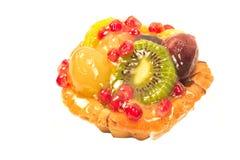 Fruit pie tart isolated. On white royalty free stock image