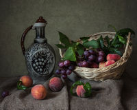 Fruit-piece. Still life will decorate a living room, dining-room, out-of-town house Stock Image