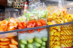 Fruit piece in street market Stock Images