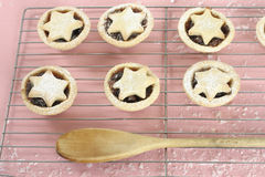 Fruit pies with star tops Stock Images