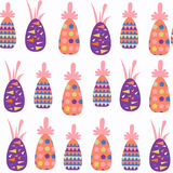 Fruit pineapples seamless pattern. It is located in swatch menu, vector image. Cute illustration stock illustration