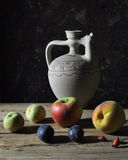Fruit and pitcher Royalty Free Stock Images