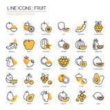 Fruit ,pixel Perfect Icon Royalty Free Stock Images