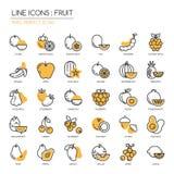 Fruit, pixel perfect pictogram Royalty-vrije Stock Afbeeldingen