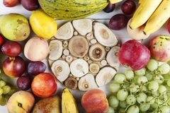 Fruit place for text royalty free stock photos