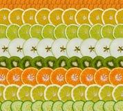 Fruit/plantaardige plakken royalty-vrije stock foto's