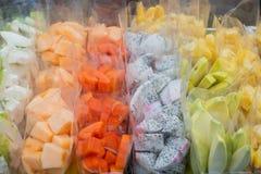 Fruit. In plastic bag in market ,Bangkok Thailand Stock Images