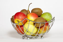 Fruit Plate. Some Fruits in a Plate, ready to get eaten Royalty Free Stock Photos