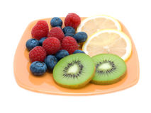 Fruit on plate Stock Photo