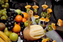 Fruit Plate Royalty Free Stock Photography