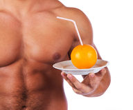 Fruit is on plate stock photography