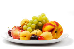 Fruit on a plate Royalty Free Stock Photography
